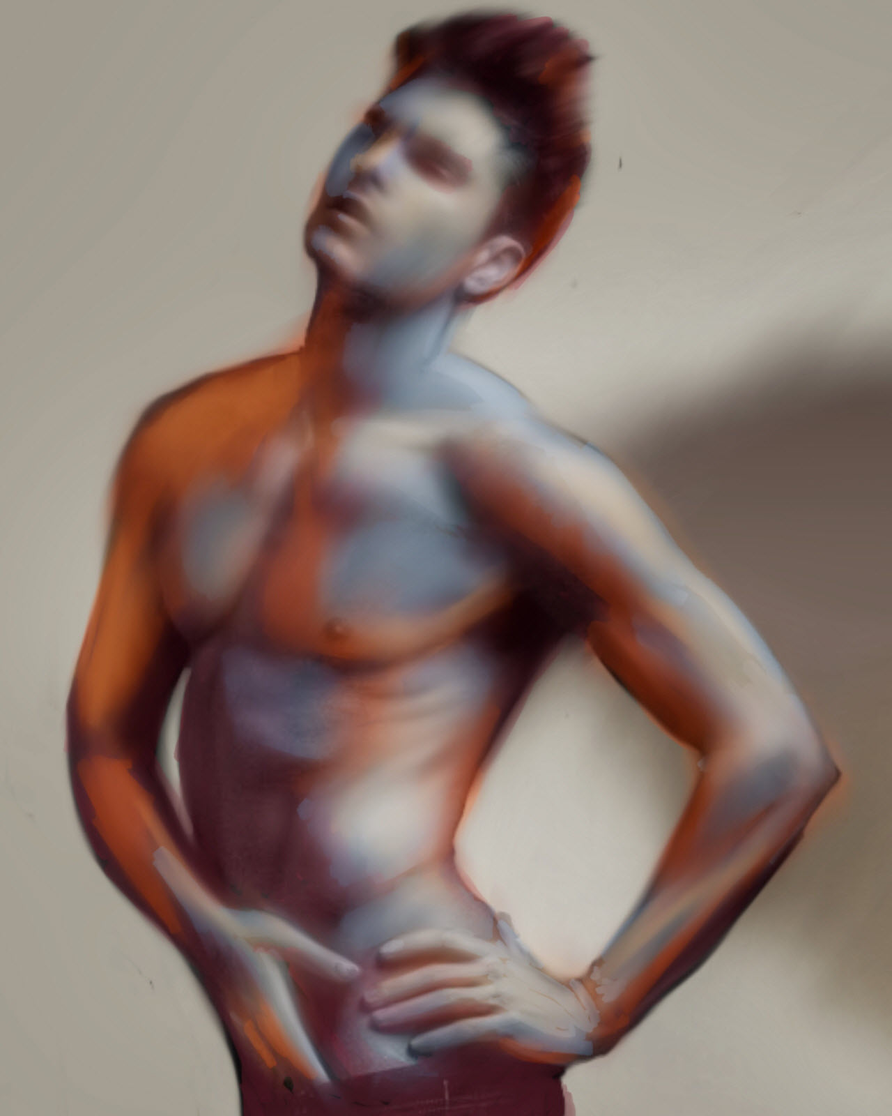 Male Figure 02 done with Procreate for the iPad