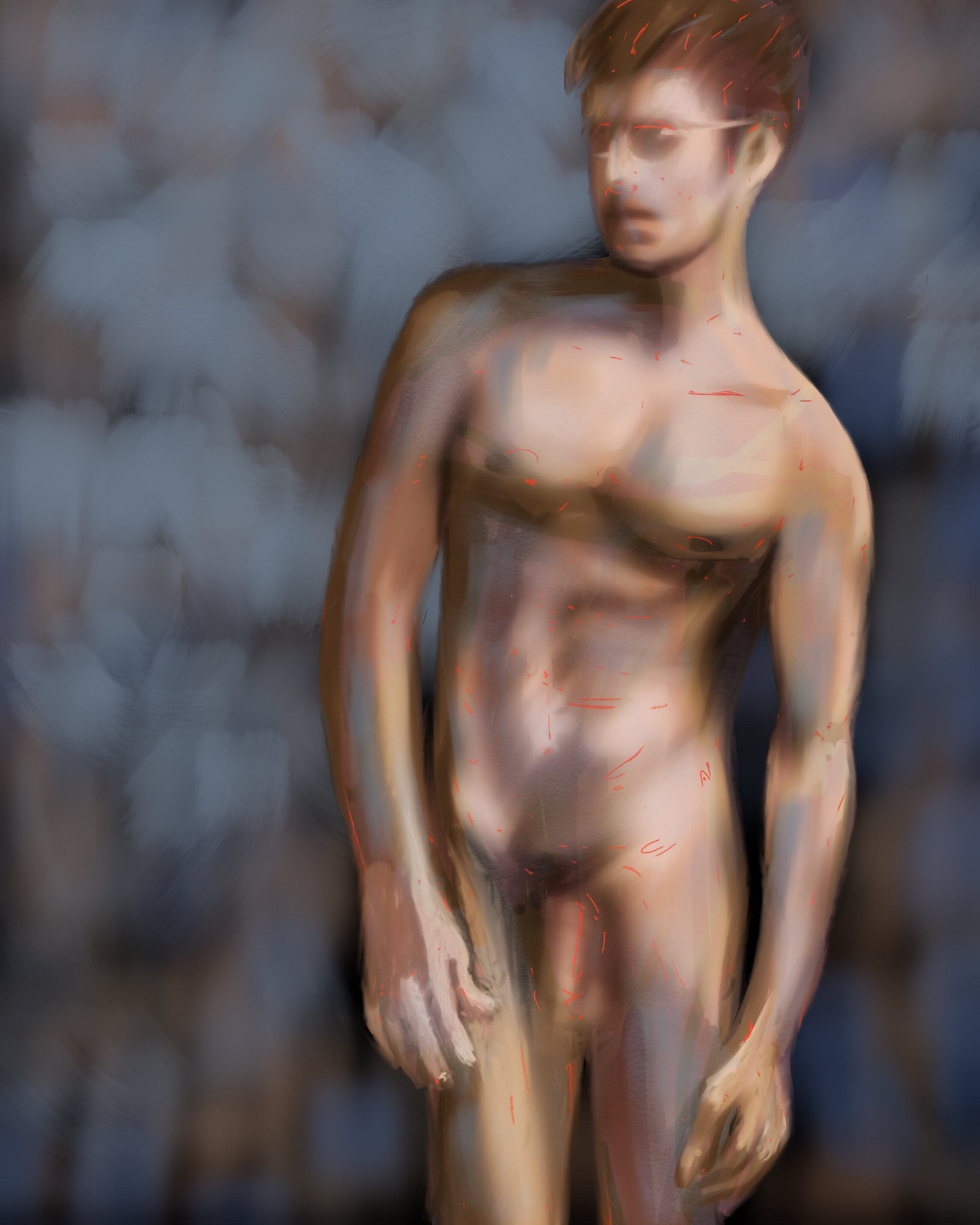 Male Figure 06 done with Procreate for the iPad