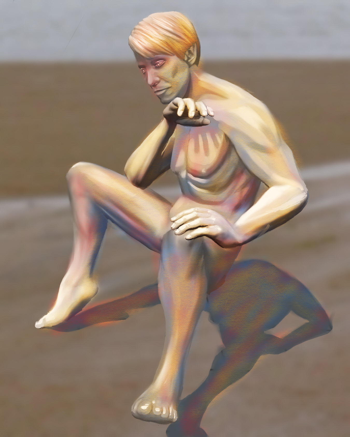 Male Figure 09 done with Procreate for the iPad