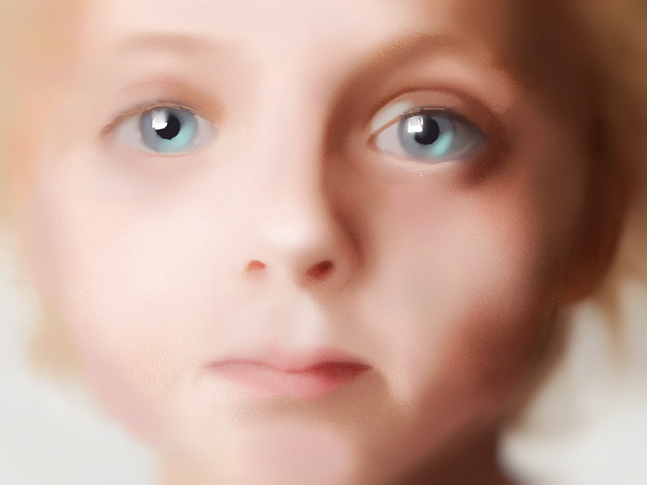 Study of a Small Girl Childs Face