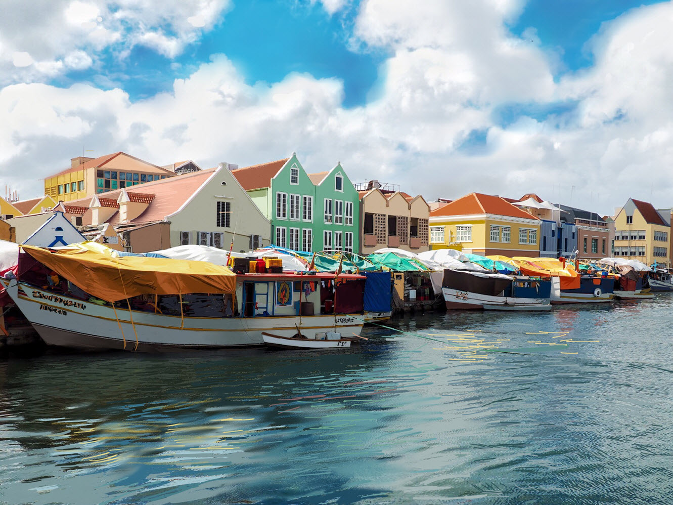 The Island Nation of Curacao in the So. Caribbean Sea