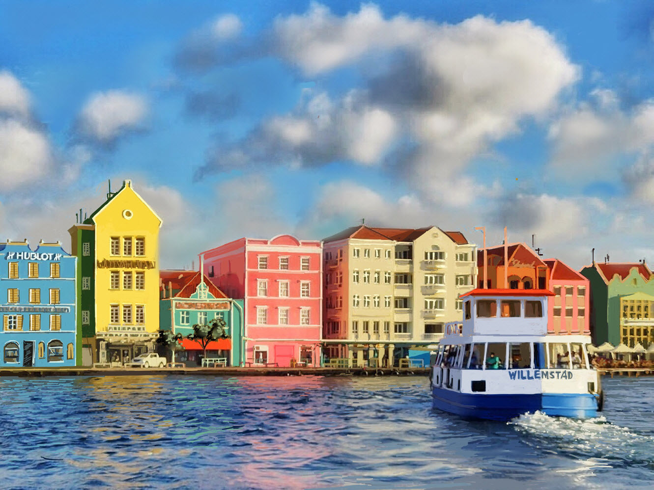 Willemstad Curacao in the So. Caribbean