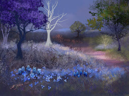 Jacaranda with Blue Flowers