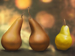 Comice with Bartlet Pears