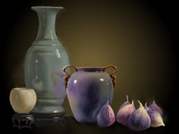 Pottery with Figs